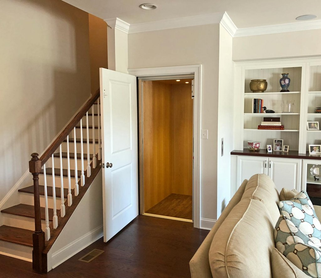Lot 47 Residential Elevator Open Door to Cab View