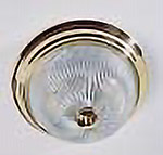 polished brass clear ribbed glass light fixture