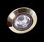 recessed down lights polished brass trim rings