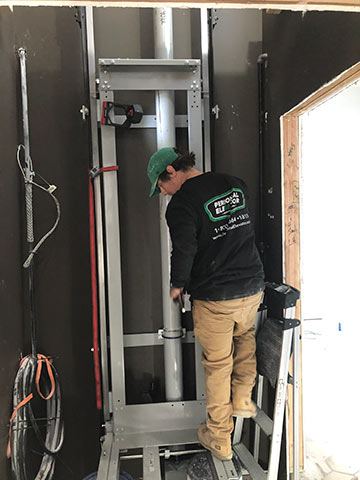 Home elevator construction by Personal Elevator